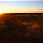 Sun setting over the Desert by kcy011