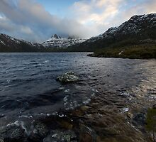 Dove Lake and a Snowy Cradle by Shelley Warbrooke