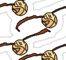 I Open At The Close Golden Pixel Snitch Sticker