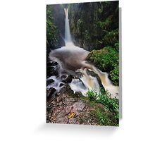 Stanley Ghyll Force Greeting Card