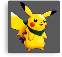 Pikachu with Scraft blue Canvas Print