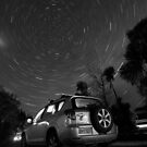 Monochrome Cartrails by Lachlan Downing