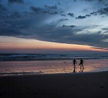 heading home at dusk by ketut suwitra