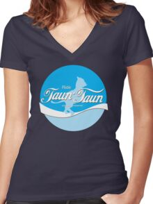 Ride TaunTaun Women's Fitted V-Neck T-Shirt