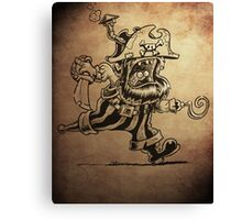 Steam Powered Pirate posters and prints Canvas Print
