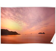 Sunrise along the coast in Hong Kong Poster