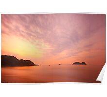 Sunrise along the coast in Hong Kong Poster