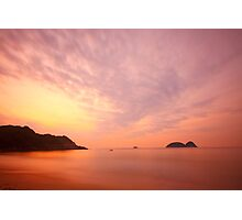 Sunrise along the coast in Hong Kong Photographic Print
