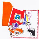 Night Drawings - Les Dessins de Nuit n°59  - Homage to Matisse by Pascale Baud