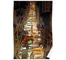Temple Street in Hong Kong at night Poster