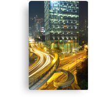 Traffic in Hong Kong downtown Canvas Print