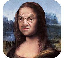 Mr Bean/Mona Lisa Photographic Print