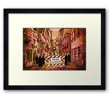 The pedestrians Framed Print