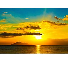 Sunset over the ocean Photographic Print