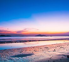 Sunset at coast in Hong Kong by kawing921