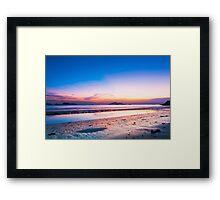 Sunset at coast in Hong Kong Framed Print