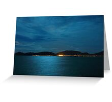 Full moon light over the ocean Greeting Card