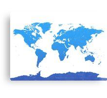 World map E water Canvas Print