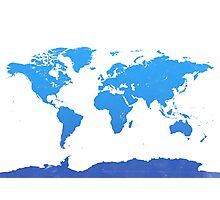 World map E water Photographic Print