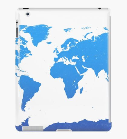 World map E water iPad Case/Skin