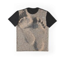 Footprints in the sand Graphic T-Shirt