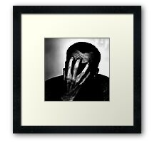 Just Can't Look ! Framed Print
