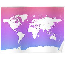 World map energy Poster