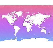 World map energy Photographic Print