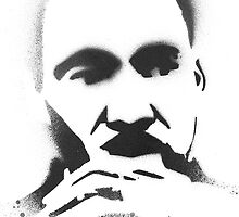 MLK Spray painted by berdozer
