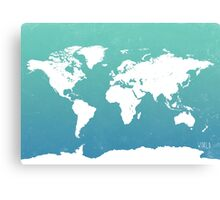 World map i water Canvas Print