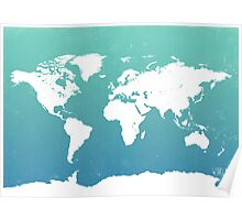 World map i water Poster