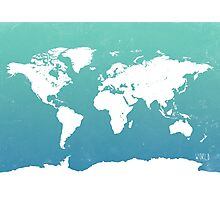World map i water Photographic Print
