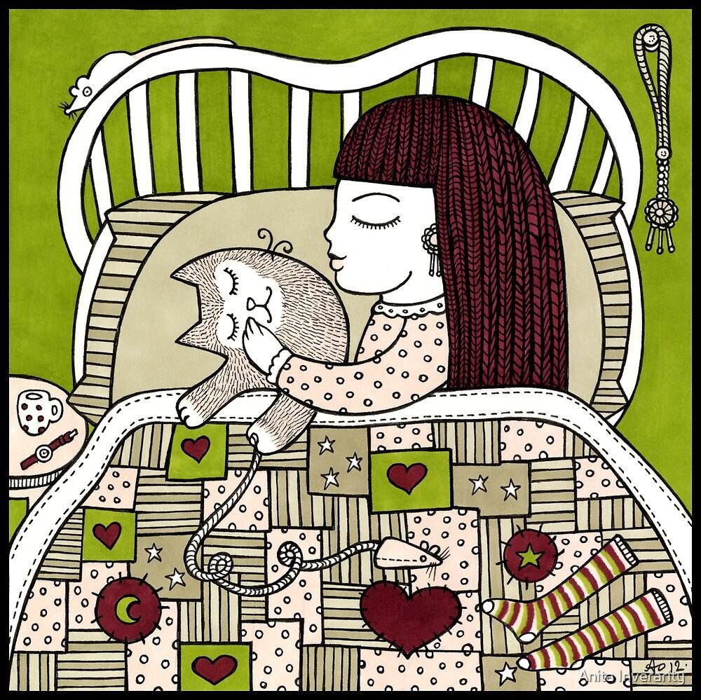 Cat Cuddle by Anita Inverarity