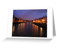Dublin Nights Greeting Card