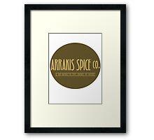 Dune - Arrakis Spice co. (version 2) Framed Print