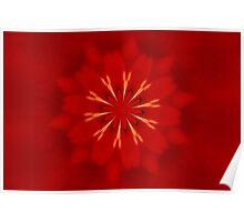 Kaleidoscope Red Poster