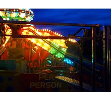 Rides at night Photographic Print