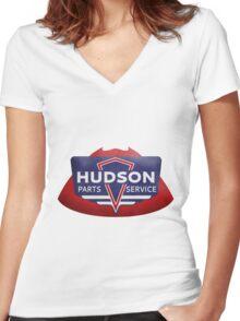 Retro Hudson Automobile Reproduction t-shirt Women's Fitted V-Neck T-Shirt