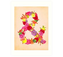Flower Ampersand Art Print