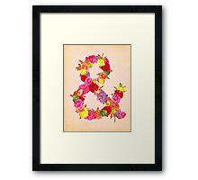 Flower Ampersand Framed Print