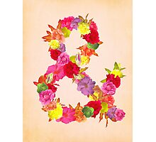 Flower Ampersand Photographic Print