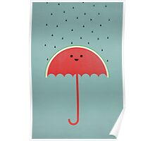 Watermelon Umbrella Poster