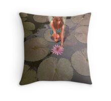 Lily pad Fairy Throw Pillow
