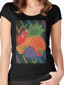 Neon Fruit Women's Fitted Scoop T-Shirt
