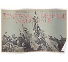 République Française 3e Emprunt de la Défense Nationale Poster