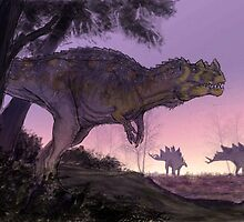 Ceratosaurus Gloaming by Asher  Elbein