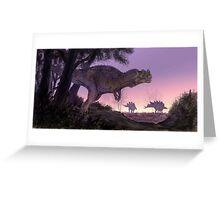 Ceratosaurus Gloaming Greeting Card