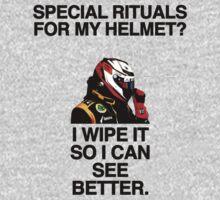 On Helmet Rituals by brilliantbutton