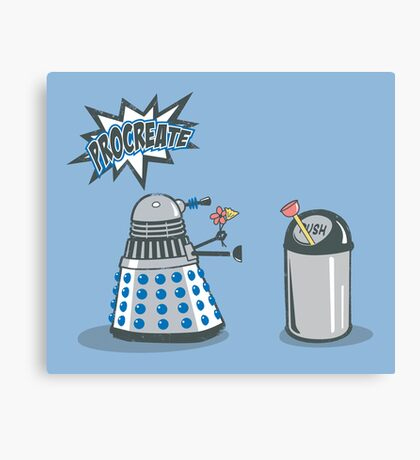 Dalek Crush Canvas Print