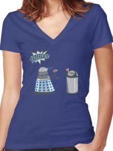 Dalek Crush Women's Fitted V-Neck T-Shirt